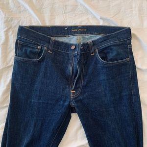 Nudie Jeans Men's Lean Dean 34x34 Dark Wash